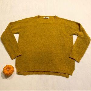 YEMAK Women's Sweater, Mustard Yellow